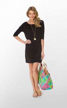 Casual little black dress from Lily P. There's nothing you can't do with this dress. So chic.