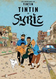 Tintin in Syrie Comics Illustration, Graphic Design Illustration, Haddock Tintin, Tin Tin Cartoon, Captain Haddock, Herge Tintin, Fantasy Comics, Bd Comics, Vintage Comics