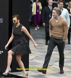 Scarlett Johansson and Chris Evans Head Swap