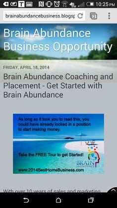 Take a free tour www.raulrosales brain abun.brainabundance.com hop in