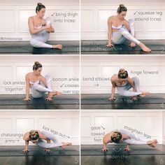 "2,151 Likes, 38 Comments - ↠chelsea seaman↞ (@chelseasyoga) on Instagram: ""How I first learned...#astavakrasana aka #eightanglepose 1. Lift your leg leg up and bring thigh…"""