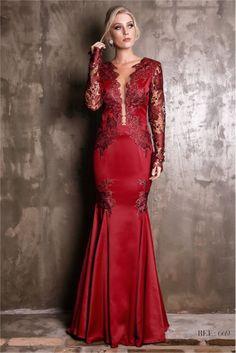 vestido de festa vermelho