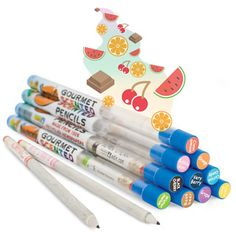 These quirky, eco-friendly pencils make writing and sketching as much fun for your nose as it is for your eyes because they're infused with natural scents that waft up as you use them. And we're not talking eau de pretentious scents; we're talking Black Cherry, Bubble Gum, Cinnamon, Cotton Candy, Grape, Orange, Rootbeer, Tropical Blast, Very Berry, and Watermelon.