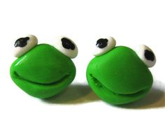 Frog Stud Earrings Nickel Free by CharlieCarter on Etsy, $9.00