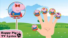 "Lollipop Peppa Pig SuperMan Finger Family \ Nursery Rhymes Lyrics and More ""Pepp."