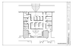 #Chiropractor #office #floorplan with Therapy and Massage rooms. 2,250 square feet