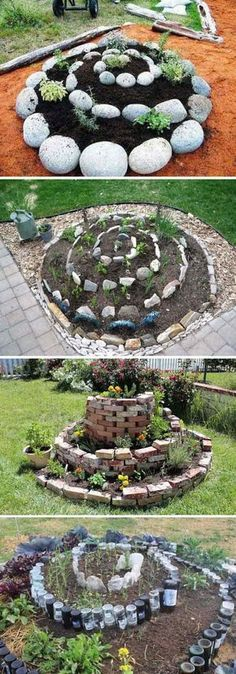 3. Spiral garden has very cool looking and works great for people with limited space 22 Ways for Growing a Successful Vegetable Garden