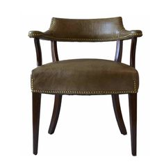 Vintage Hickory Chair Company Leather Library Chair