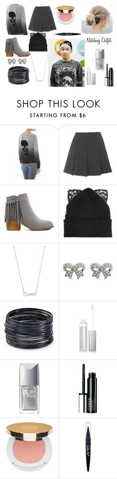 """BTS' Rap Monster #2"" by megayolo3 ❤ liked on Polyvore featuring Skull Cashmere, Topshop, Silver Spoon Attire, M&Co, ABS by Allen Schwartz, Christian Dior, Clinique, Isaac Mizrahi and Maybelline"