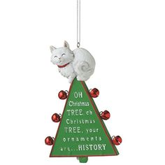 """""""Oh Christmas Tree"""" Cat Resin Christmas Ornament *** You can find more details by visiting the image link."""