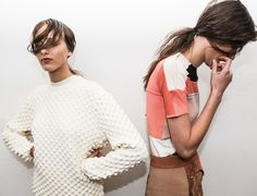 milkstudios: The Line Up Two young ladies waiting backstage at Louise Goldin Photography by Angela Pham/BFAnyc Fashion Week, High Fashion, Fashion Beauty, Womens Fashion, Simply Fashion, Net Fashion, Looks Style, My Style, Lady