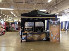Here's the Trace Wear booth display.