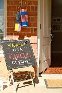 So cute circus themed birthday party @ Oh Krisann!