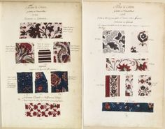▲ Indienne Samples Marseille, 1736  Samples of fabrics and paintings of Manufactures France collected by Marshal de Richelieu, Volume 1  on Gallica BnF Paris  72LesPetitesMains_Enfants-trouvés_Indiennes-Marseille.jpg (723×567)