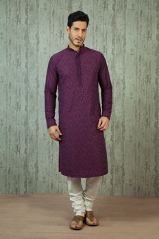 Pure silk kurta churidar with resham work from #Benzer #Bnezerworld #IndianMensClothing #weddingdressesformen