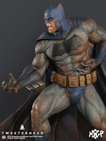 "Pre-Sale for our "" Dark Knight "" Batman Maquettes starts this Thursday morning. Dc Comics Art, Marvel Dc Comics, Anime Comics, Batman Dark, Batman The Dark Knight, Comic Books Art, Comic Art, Gotham City, Batman Suit"