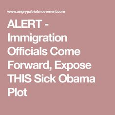 ALERT - Immigration Officials Come Forward, Expose THIS Sick Obama Plot
