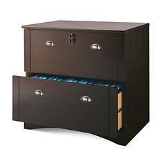 "Realspace® Dawson 2-Drawer Lateral File Cabinet, 29""H x 30 1/2""W x 21 3/4""D, Cinnamon Cherry"