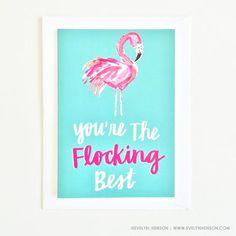 Flamingo Card evelyn_henson on instagram www.evelynhenson.com
