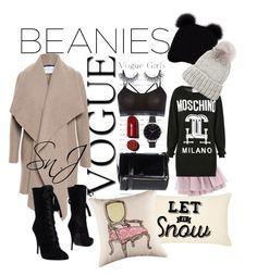 """Vogue girls wht the beanies"" by jonesmind on Polyvore featuring Inverni, Harris Wharf London, Olympia Le-Tan, Moschino, Balmain, Eugenia Kim, Olivia Burton, Calvin Klein and Givenchy"