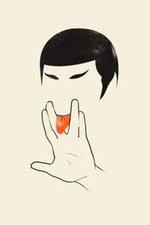 This Ain't Star Trek by Olly Moss    Lick long & prosper? Hm!