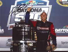 Signed Trevor Bayne Photograph - DAYTONA 500 TROPHY 11X14 COA - Autographed NASCAR Photos by Sports Memorabilia. $198.31. TREVOR BAYNE signed DAYTONA 500 TROPHY 11X14 photo with COA