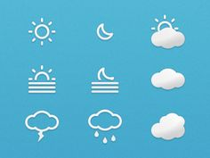 Weather Icons - Small Update designed by Alessio Atzeni. the global community for designers and creative professionals.
