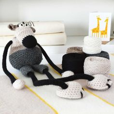 Luxury Big Mouse Amigurumi Crochet Kit by WarmPixieDIY on Etsy