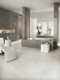 White-paste wall tiles with marble effect MARVEL by Ceramiche Atlas Concorde #marble #bathroom #grey by meerystar