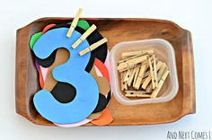 Fine motor math and counting tray for toddlers and preschoolers from And Next Comes L