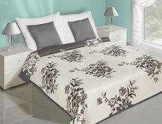 Sivo biele prehozy na posteľ s kvetovaným motívom Hotel Bed, Bed Sets, Bedding Sets, Luxury, Furniture, Amelia, Design, Home Decor, Blankets