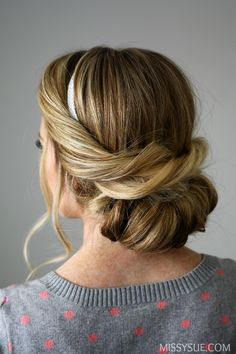 Wrapped Headband Updo