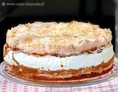 ciasto z rabarbarem i beza