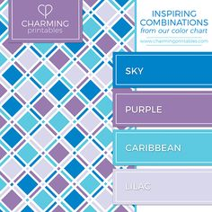 The dreary weather here has me feeling soft cool colors for this months colorcombo blue purple colorcombination graphicdesign design illustrator Purple Color Combinations, Purple Color Palettes, Blue Colour Palette, Boy Room Paint, Color Schemes Design, Greeting Card Box, Blue Crafts, Ink Pads, Color Pallets