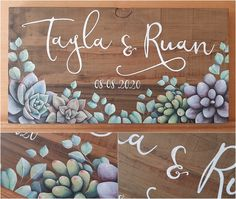 See the work-in-progress of this acrylic on solid, recycled wood wedding gift in my latest blog post. #weddingdecor #rusticwedding www.thehappystrugglingartist.co.za Wedding Name, Farm Wedding, Rustic Wedding, Eucalyptus Wreath, Wedding In The Woods, Fun At Work, Personalized Wedding Gifts, Recycled Wood, Anniversary Gifts