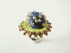 Crochet Jewelry Style III Fiber Jewelry Statement Ring