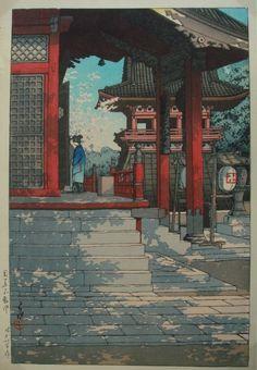 Kawase Hasui (Japanese: 1883 - 1957) - Temple