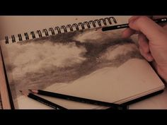 How to Draw Realistic Clouds - Full length tutorial w/ commentary