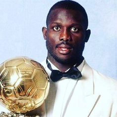 George Weah ballon d'or via @90sfootball #georgeweah #acmilan #footballshirtcollective