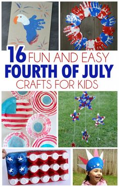 16 Fun And Easy Fourth Of July Crafts For Kids - I Heart Arts n Crafts