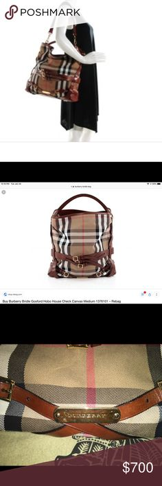 Burberry Bridle Handbag Large The bag is in excellent condition is the  largest size in this style measurements are x Burberry Bags Hobos af5ea6ca25c93