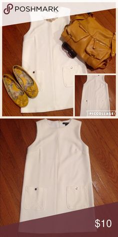 🎉SALE🎉🎀GORGEOUS WHITE DRESS BY FOREVER 21🎀 Very classic look. This beautiful white dress will complete your wardrobe. Dress it up or down and you will look always good. Tag says Small but I will say Small Petite. Forever 21 Dresses Mini