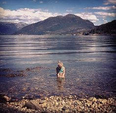 Warm enough for Mathilda to swim in! Hardanger cabin