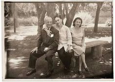 Frida Kahlo ,her father and her sister .