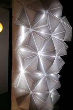 Origami lighting sculpture on a digital photobooth by Kin 5 by TomomiSayuda, via Flickr