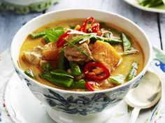 A fragrant red curry with slow-cooked pork that will melt in your mouth.