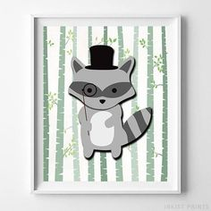 Woodland Raccoon White Background posters by Inkist Prints! This unique nursery decor print will make a great addition to any nursery and kids room. It would also be a great gift for baby shower and birthday. Nursery Artwork, Kids Room Wall Art, Nursery Prints, Nursery Decor, Nursery Room, Room Decor, Baby Room, Artwork Prints, Wall Art Prints