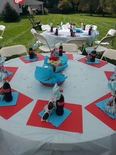50's theme bridal shower party favors