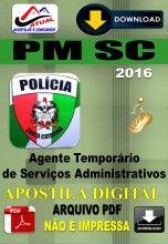 Apostila Digital Concurso PM SC Agente de Servico Temporario 2016