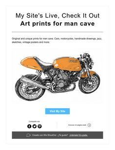 My Site's Live,Check It Out  Art prints for man cave